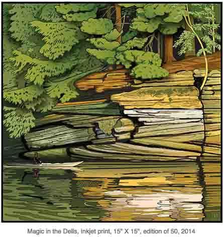 Magic in the Dells (Framed Print) by John Miller