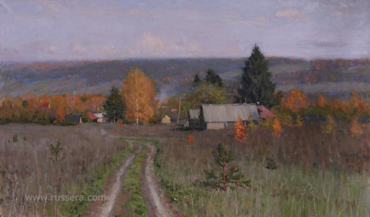 Autumn. Village Nickolaevka by Vasily Hudyakov