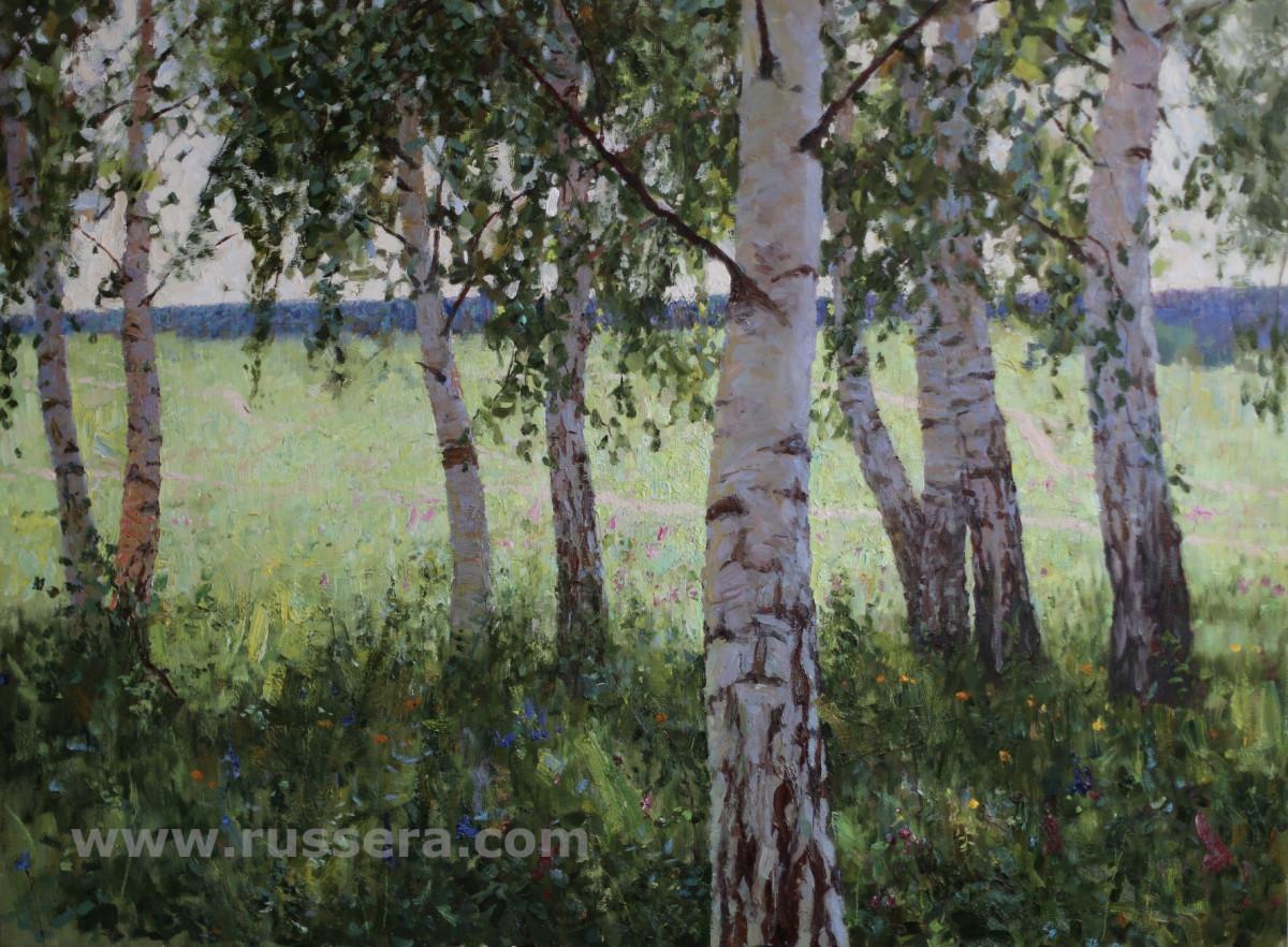 Birch Grove by Vasily Hudyakov