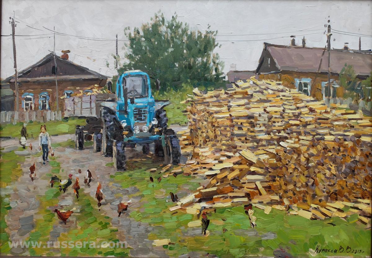 Courtyard by Vasily Kuraxa