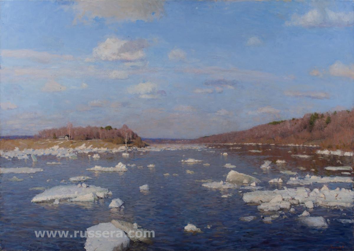 Ice drift. Village Polenovo by Vasily Hudyakov