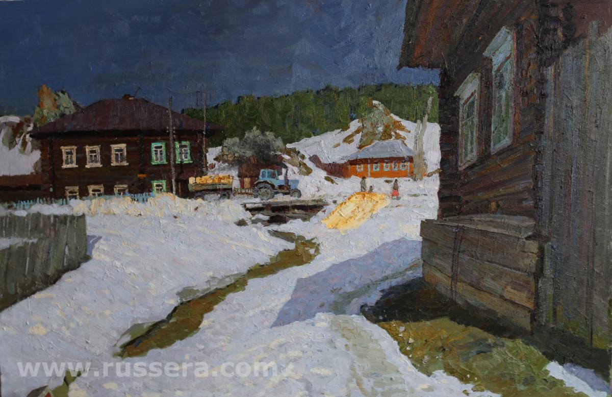Morning. Village Kyn by Vasily Hudyakov