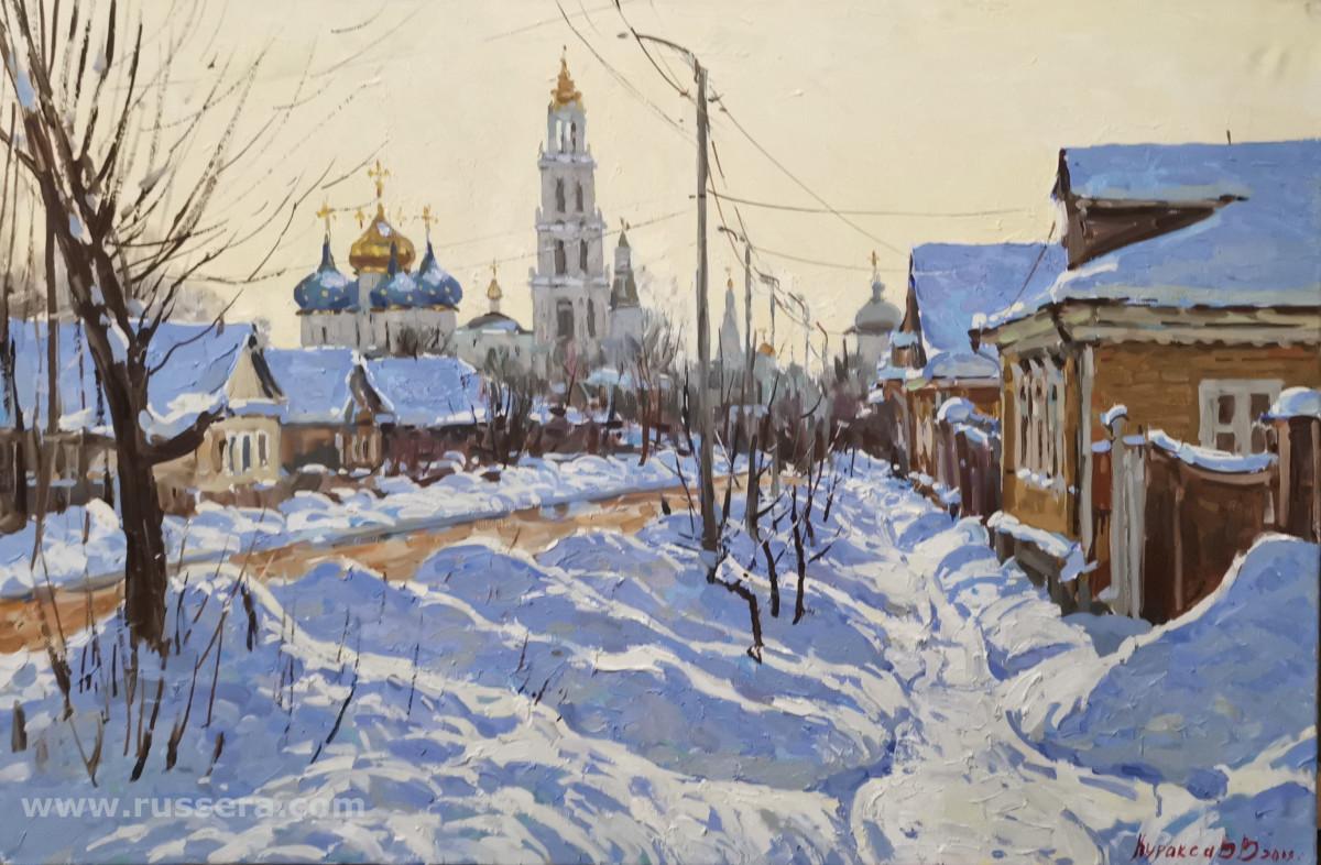 Morning in Sergiev-Posad by Vasily Kuraxa