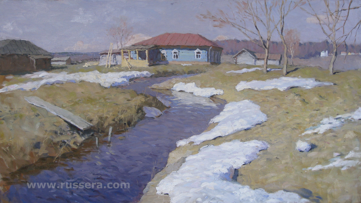 Spring . Behovo village by Vasily Hudyakov