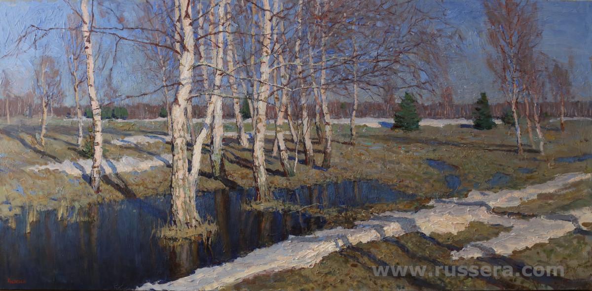 Spring Flood by Vasily Hudyakov