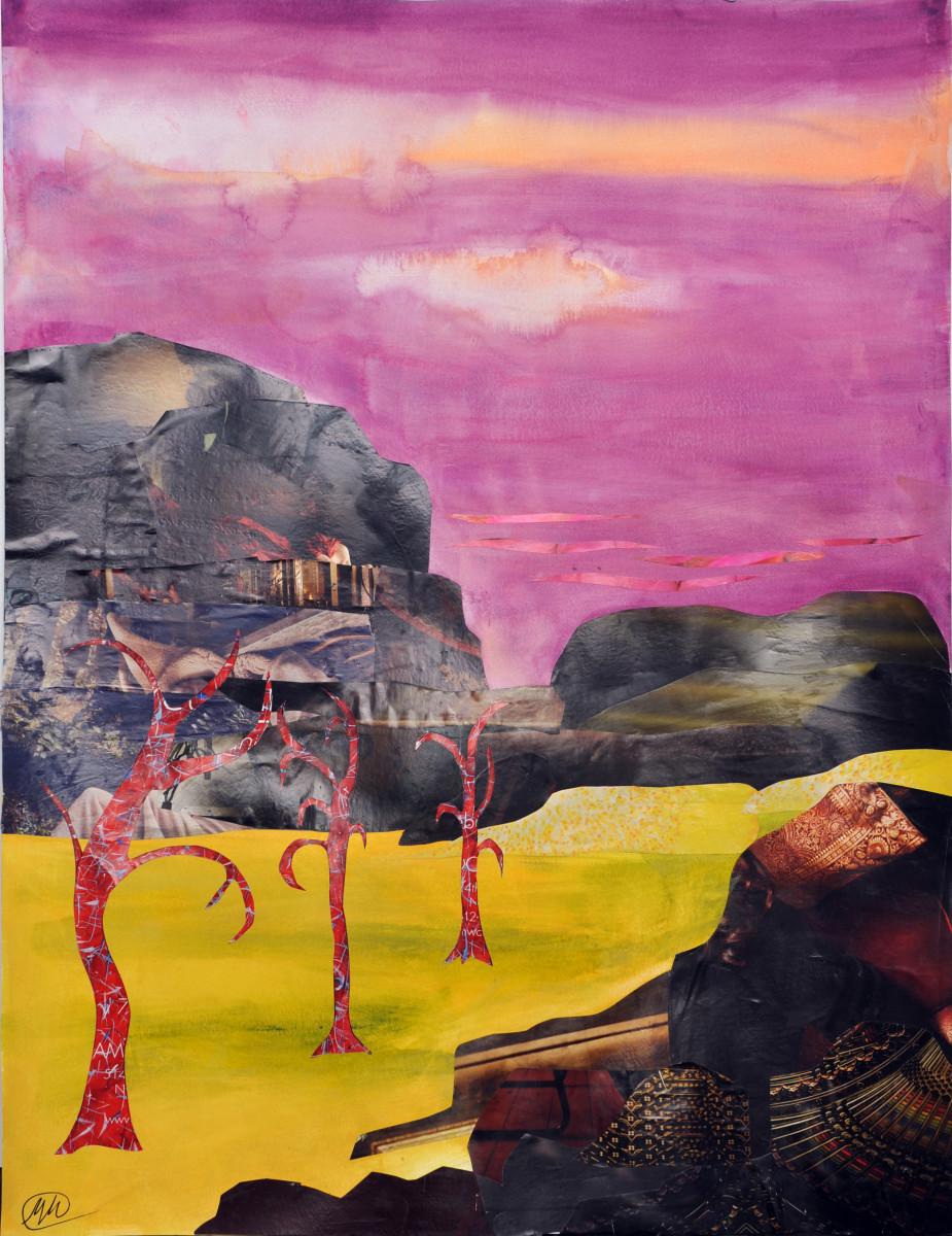 Imaginary landscape-pink