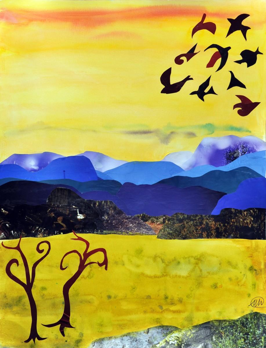Imaginary landscape - yellow