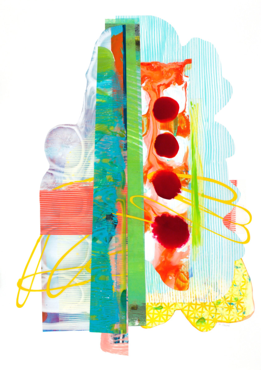 Four Magenta Dots by Mary Zeran