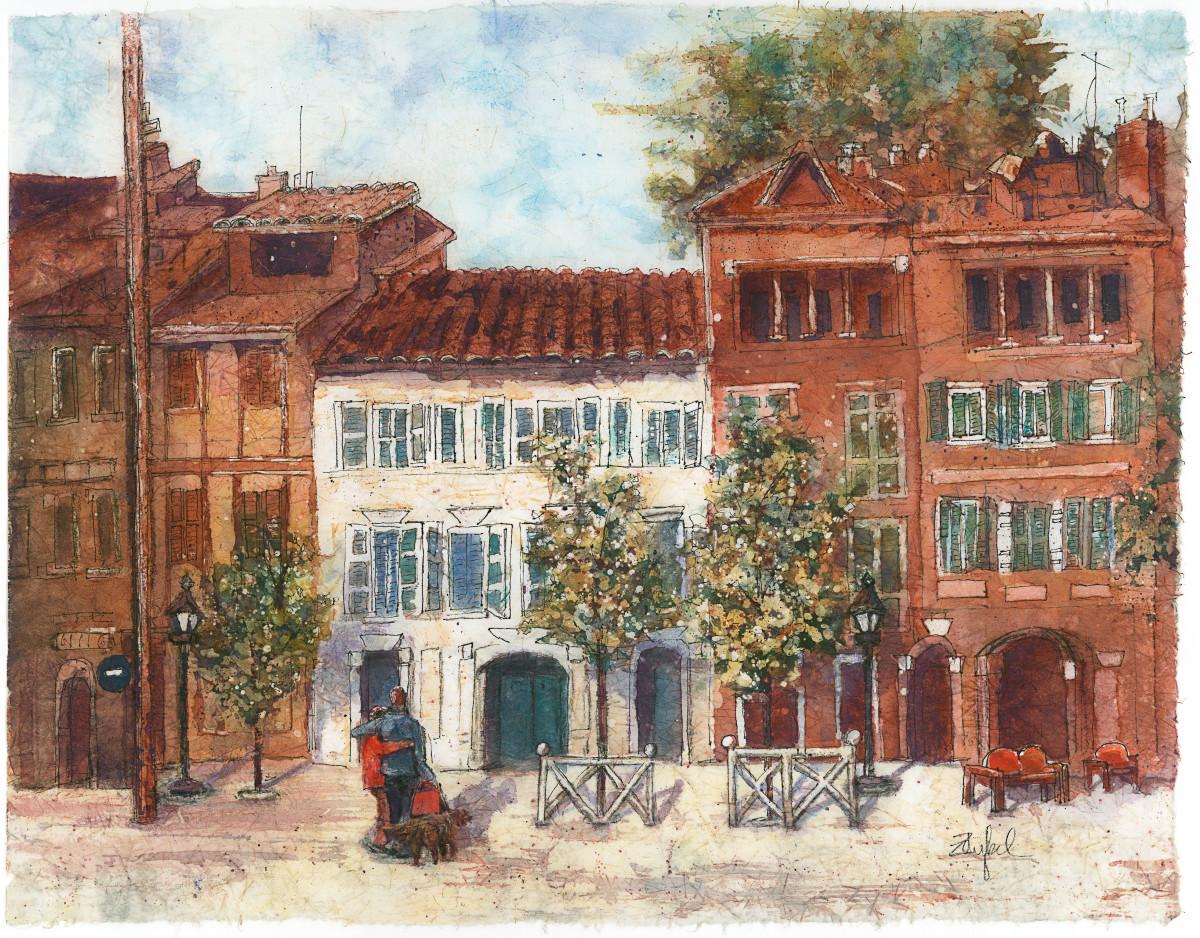 Le Trek Toulouse Batik by Rebecca Zdybel   Artwork Archive