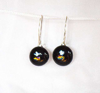 Harlequin Drop Earrings  ( round)