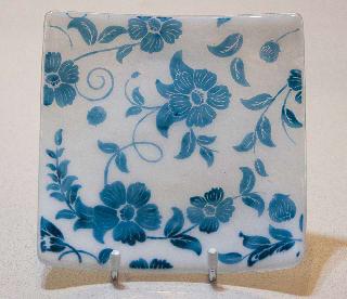 Blue Old Rose Dish