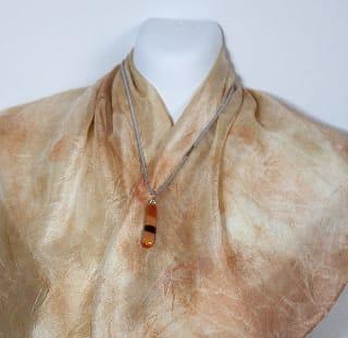Eco Dyed Silk Scarf Mottlecah by Nada Murphy