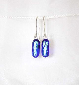 Night Sky Drop Earrings Star Trails by Nada Murphy