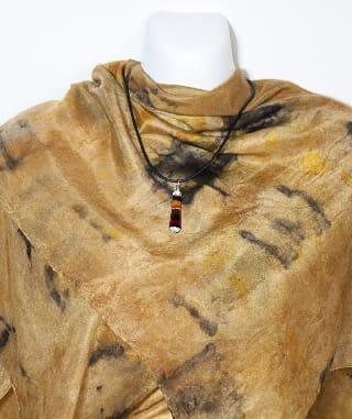 Eco Dyed Silk Scarf  Wandoo shibori-style by Nada Murphy