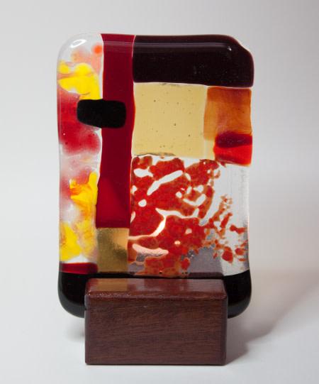 Red Rock Tealigth medium by Nada Murphy