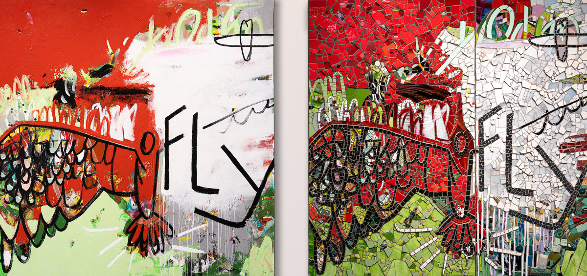 FLY DUO (diptych)