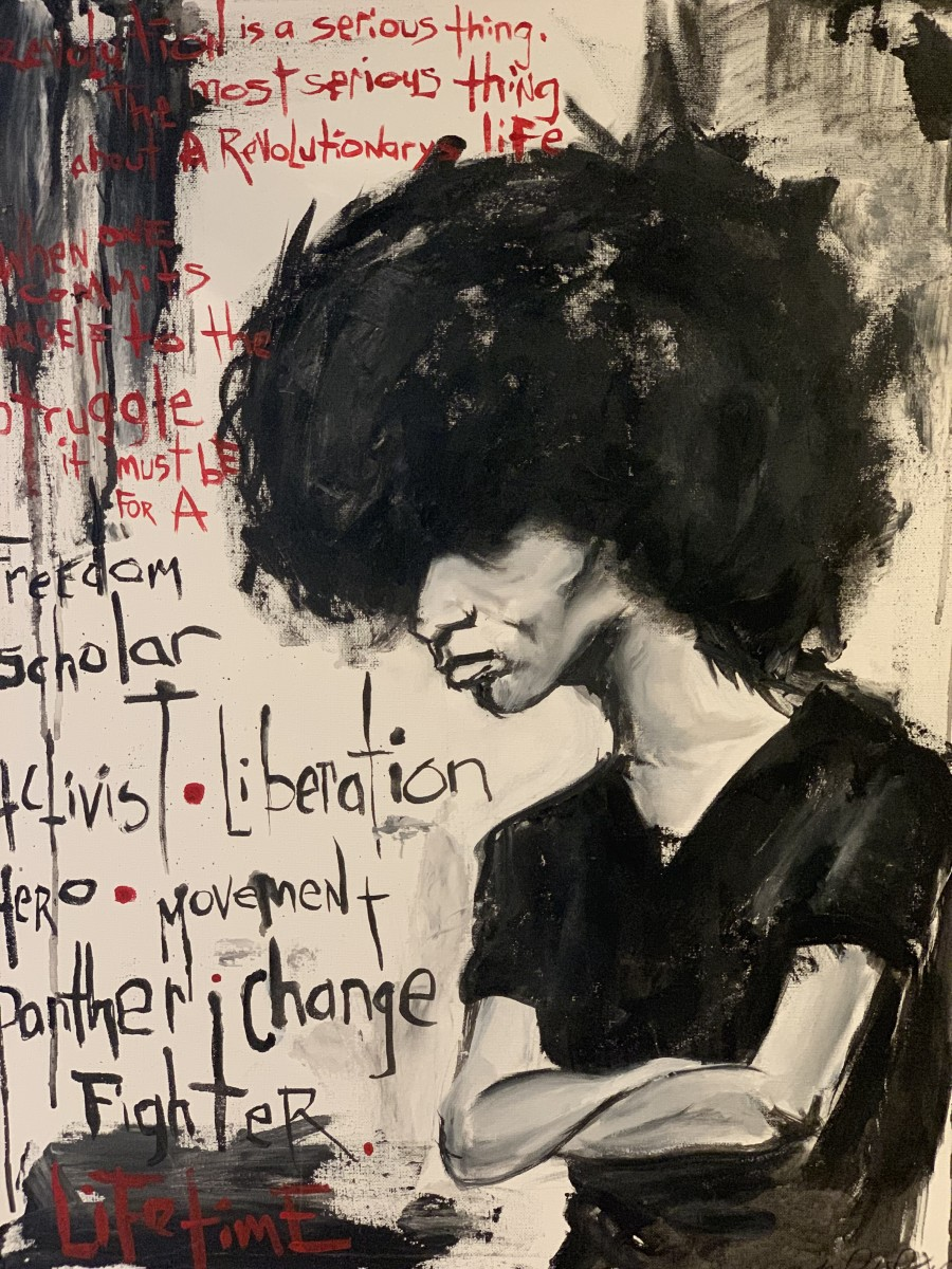 Angela Davis by Milton Madison
