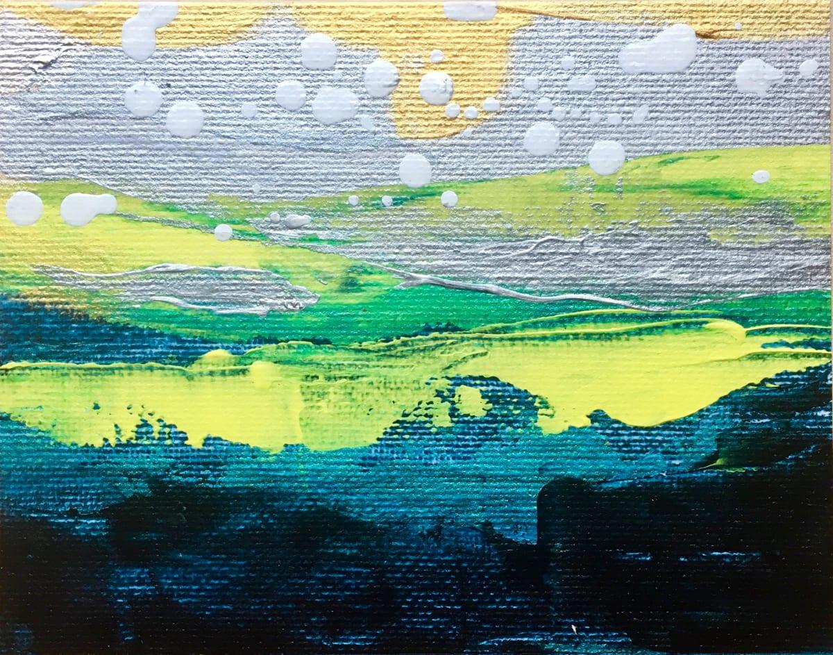 'Sun on the Ocean' Mini Paintings by Julea Boswell