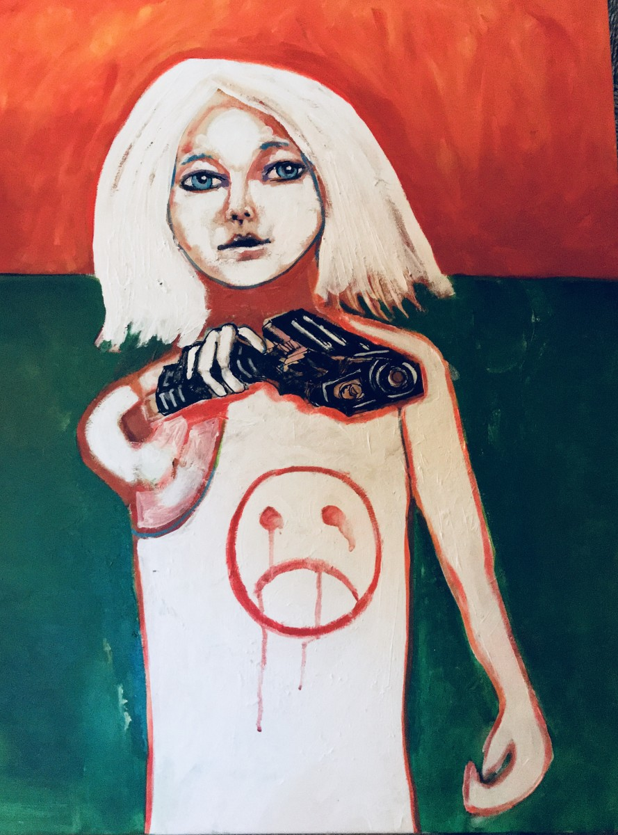 See Jane bring her gun to school by Judith Estrada Garcia