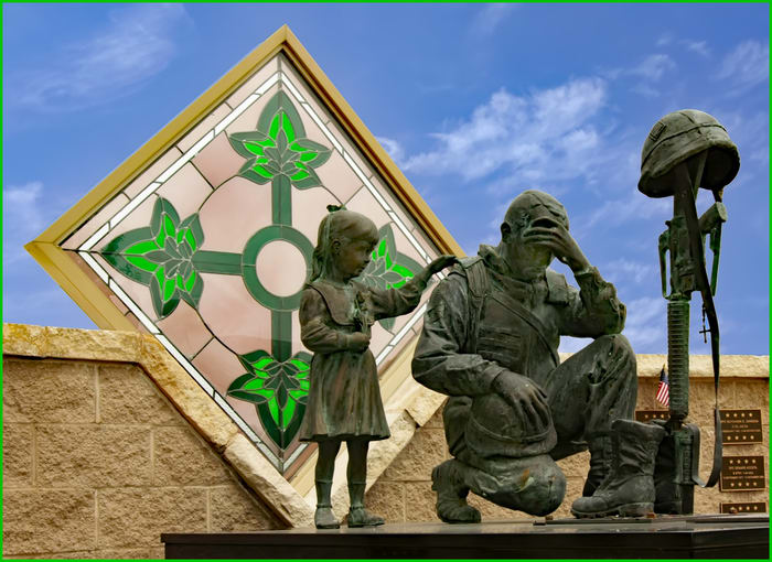 """""""I lost by buddy"""" (4th Infantry Div Memorial - Fort Hood) (copy) by Wes Odell"""