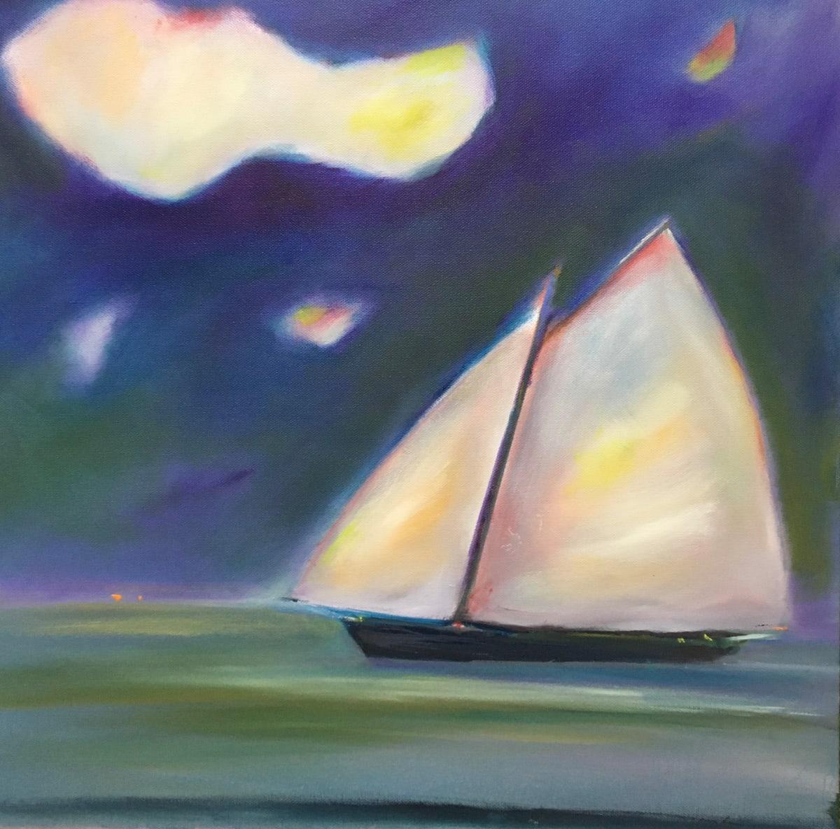 Sailboat, Dusk by Marston Clough