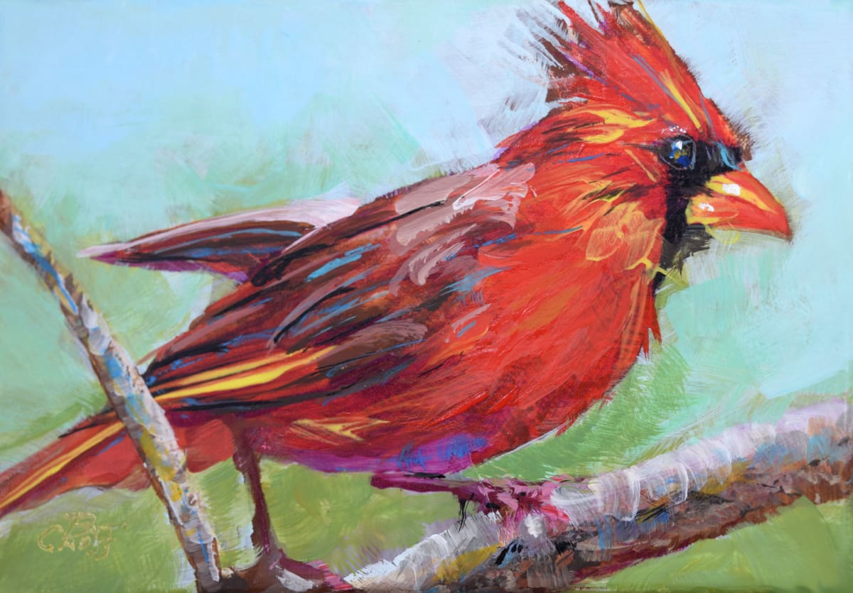 Forest Ruby Cardinal by Pat Cross