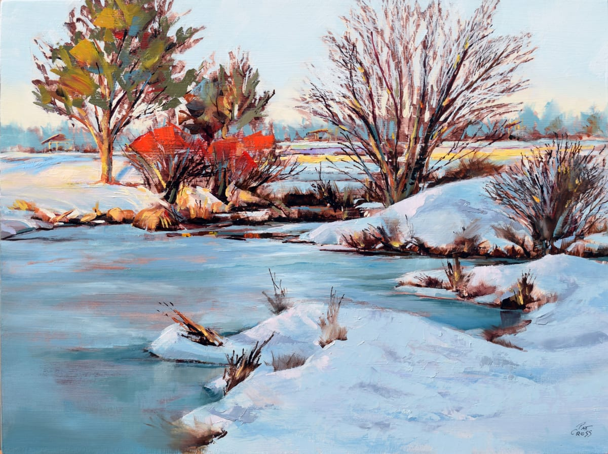 Winter on the Riverbank by Pat Cross