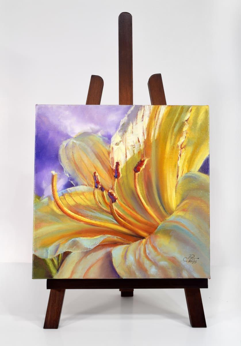 Yellow Stella Lily by Pat Cross