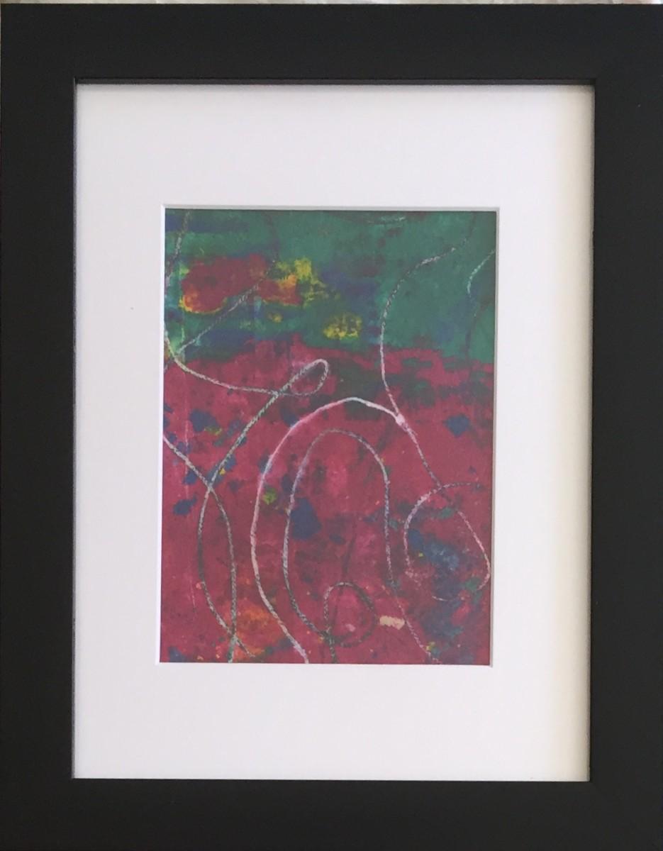 Magenta & String II by LZ Lerman