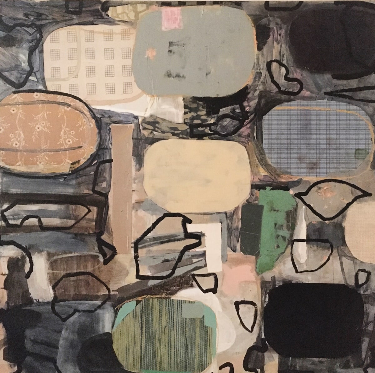 Large Shapes Plus Lines by MaryAnn Puls