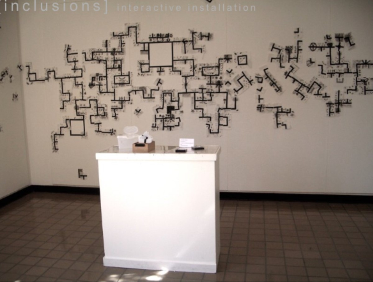 FORMATIONS - INCLUSION  installation  BUCKLEY CENTER GALLERY by MaryAnn Puls