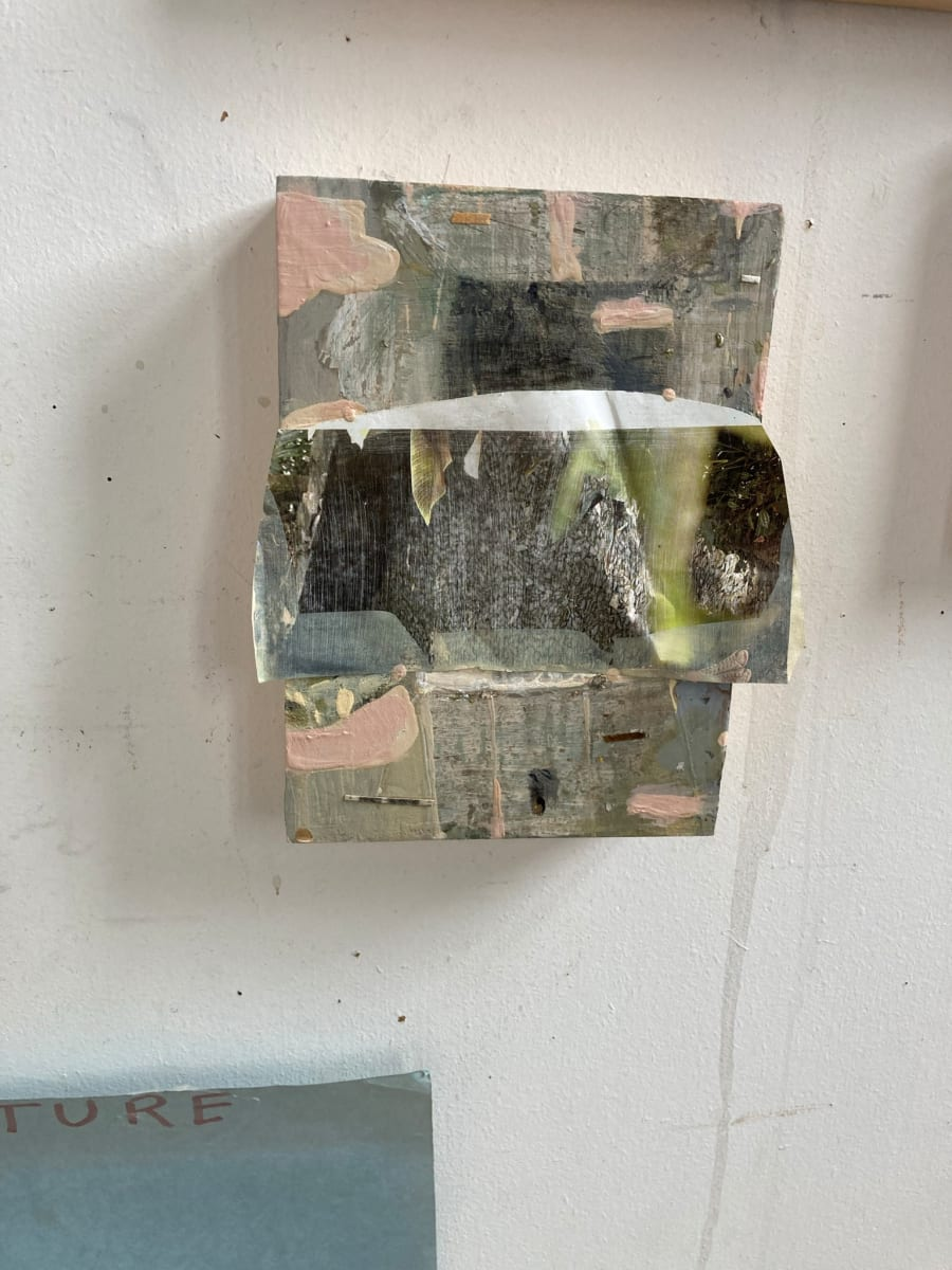 Painting with Crumpled Paper by MaryAnn Puls