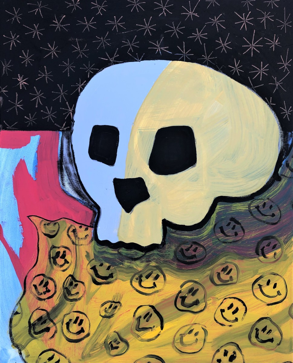 Still life with skull by Shelby Little