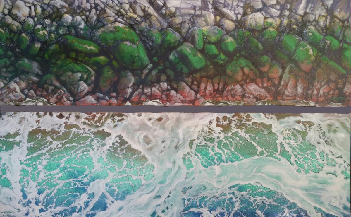 Diptych - Seafoam & tidal stone