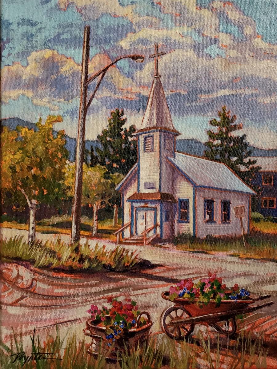 Carcross Yukon / St John the Baptist Mission. by Jan Poynter