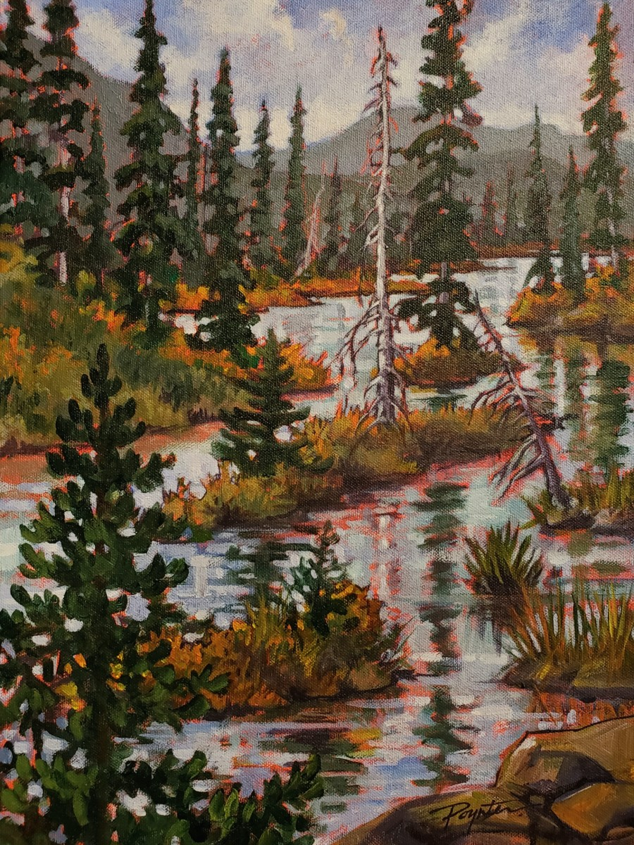 Snag/Surprise Lake Dam - Atlin BC by Jan Poynter