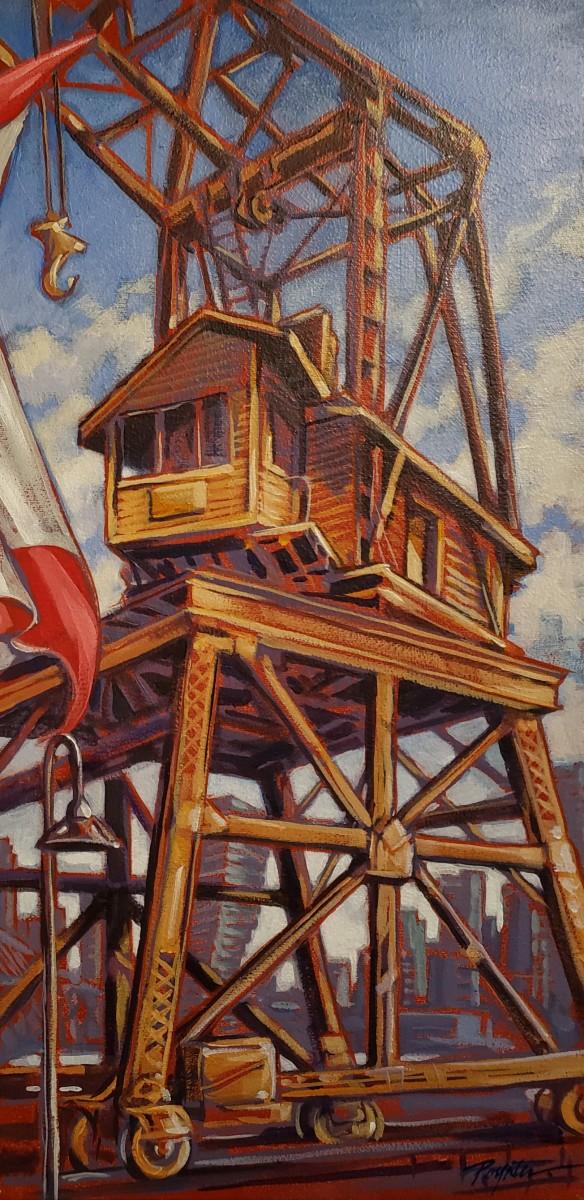 Canada Day - Crane/Granville Island by Jan Poynter