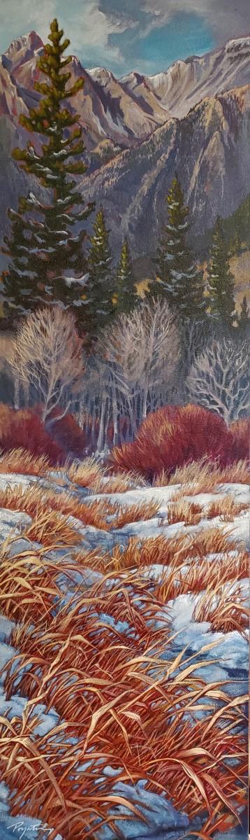 """Last Light - valley grass"""" by Jan Poynter"""
