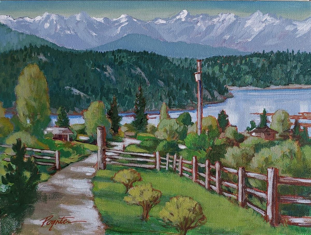 """""""overlook -  West Howe Sound"""" by Jan Poynter"""