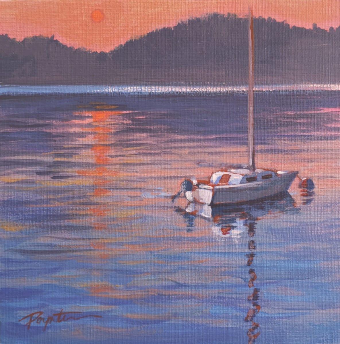 Dawn sailer. Smoke. by Jan Poynter
