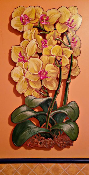 LIVE EDGE  Orchid #1 by Jan Poynter
