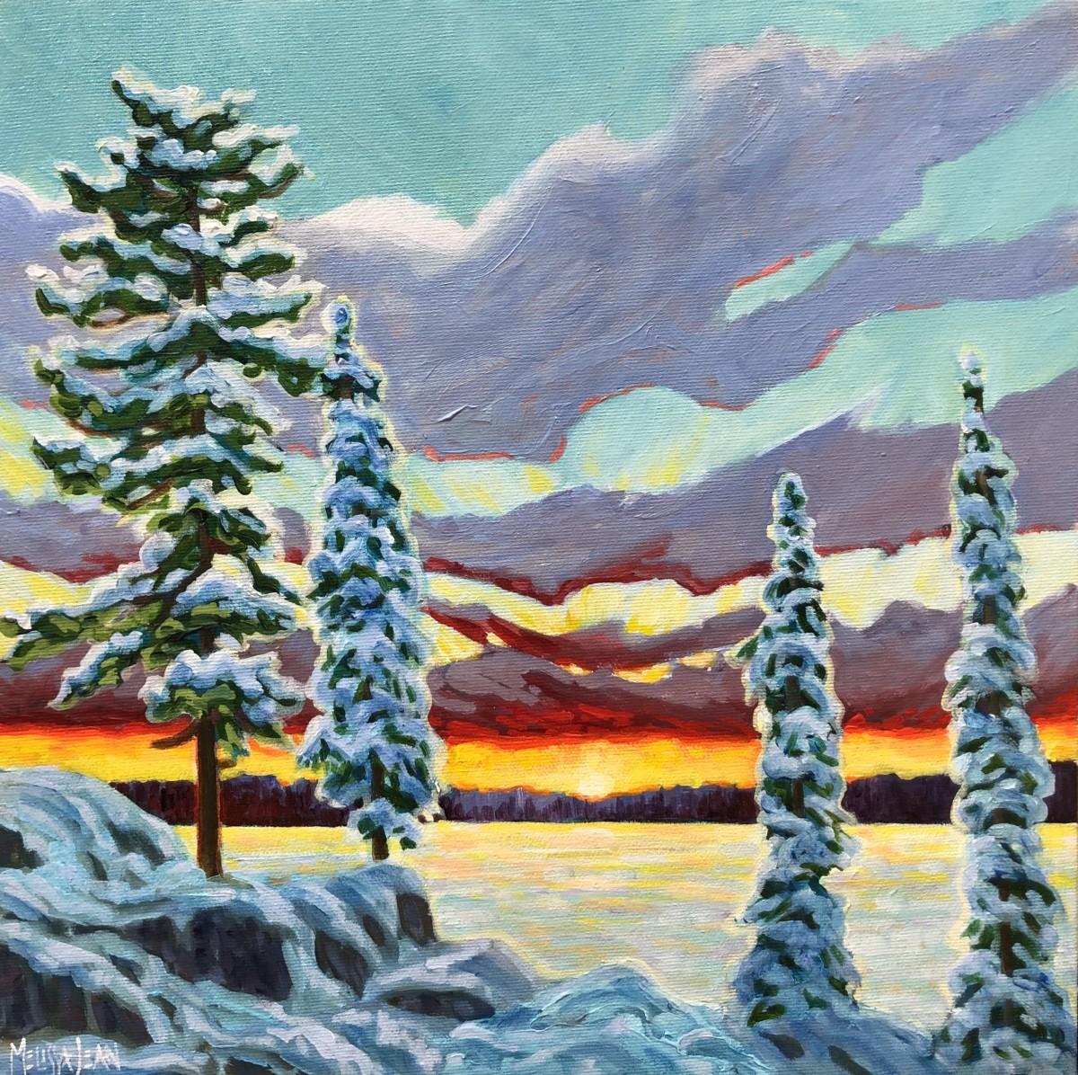 Winter Sunset by Melissa Jean