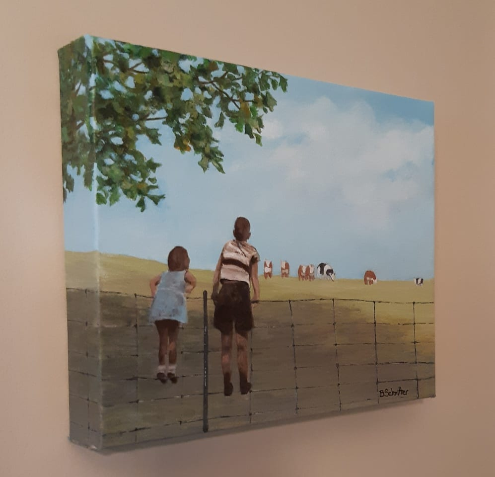 Watching Cows by Bonnie Schnitter