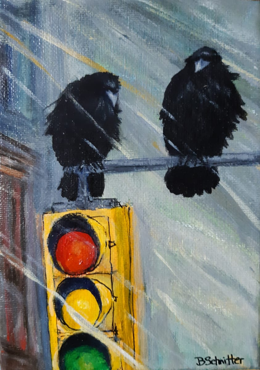 Stormy Crows by Bonnie Schnitter