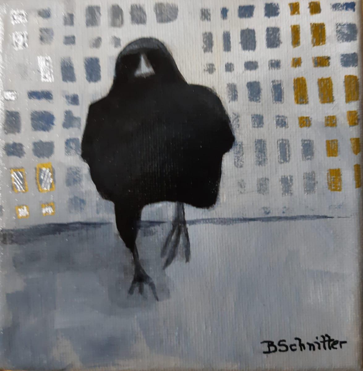 Strutting Crow by Bonnie Schnitter
