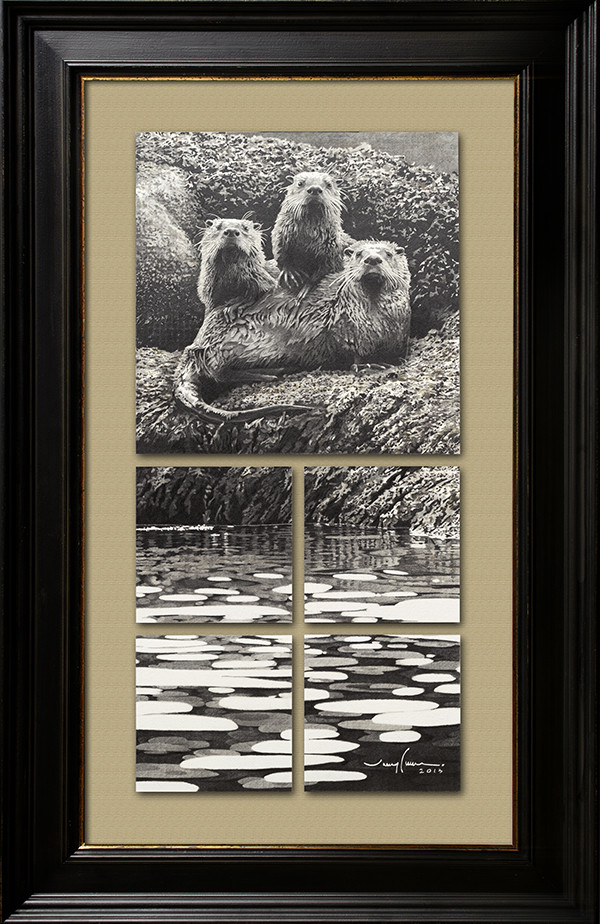 Otters at Echo Bay
