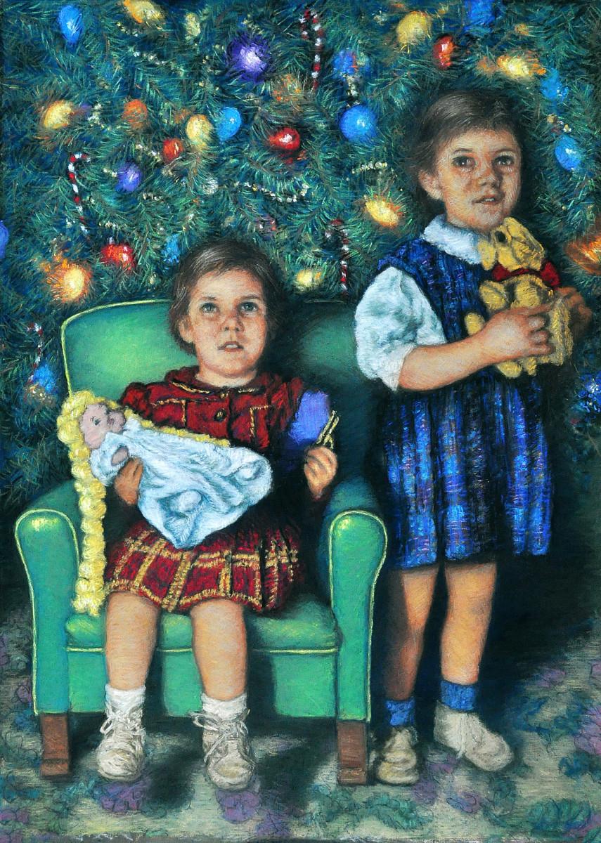 Cookie & Sandie Christmas 48' by Merrilyn Duzy