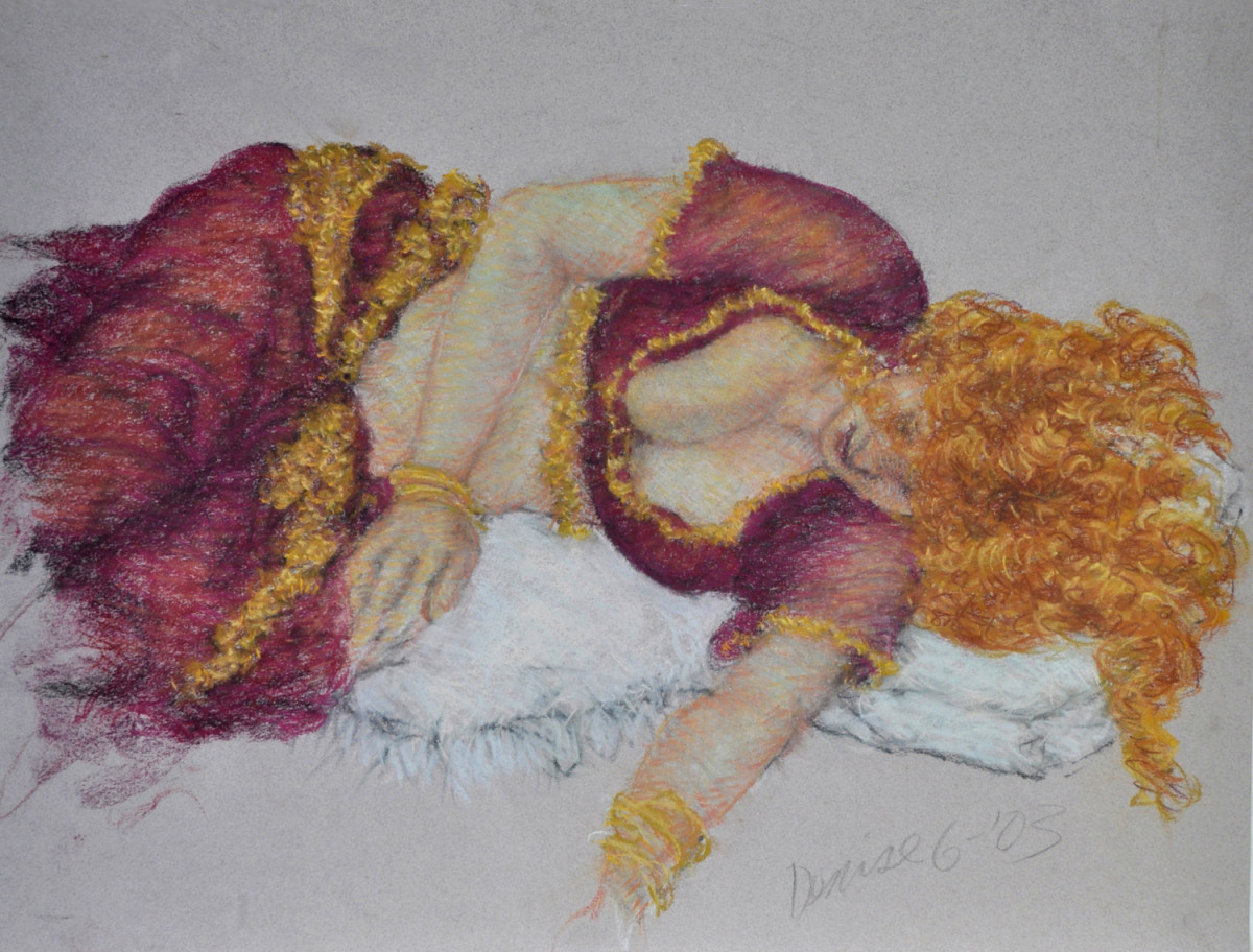 Denise in Harem Costume by Merrilyn Duzy