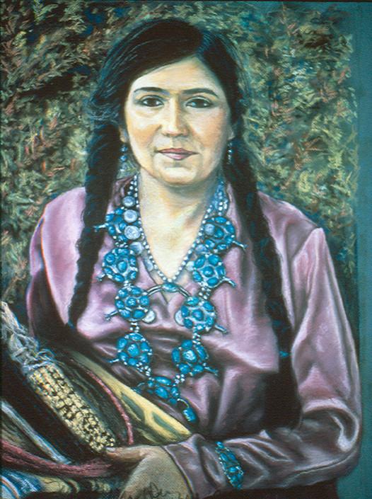 Linda Vallejo as Navajo Woman by Merrilyn Duzy