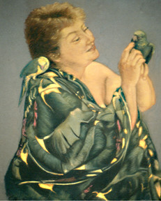 Lois with Parrots by Merrilyn Duzy
